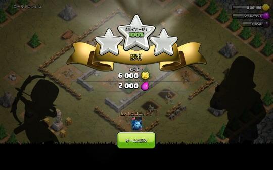 ゴールドラッシュ(ステージ8)報酬の図